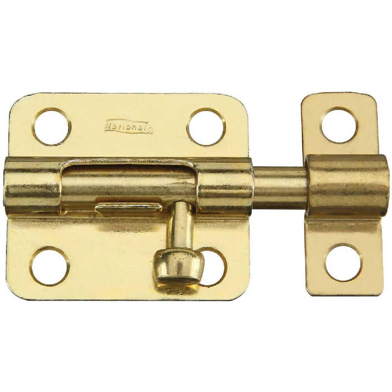 National 2-1/2 In. Brass Steel Door Barrel Bolt Image 1