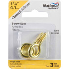 National #8 Brass Large Screw Eye (3 Ct.) Image 2