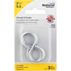 National 2-1/8 In. Zinc Light Closed S Hook (3 Ct.) Image 2