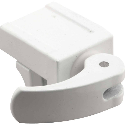 Defender Security White Vinyl Sash Lock (2-Pack)