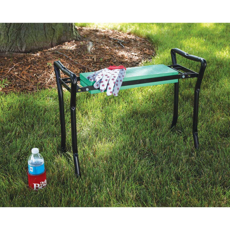 Best Garden Green Foam Pad w/Black Steel Frame Garden Kneeler Bench Image 5