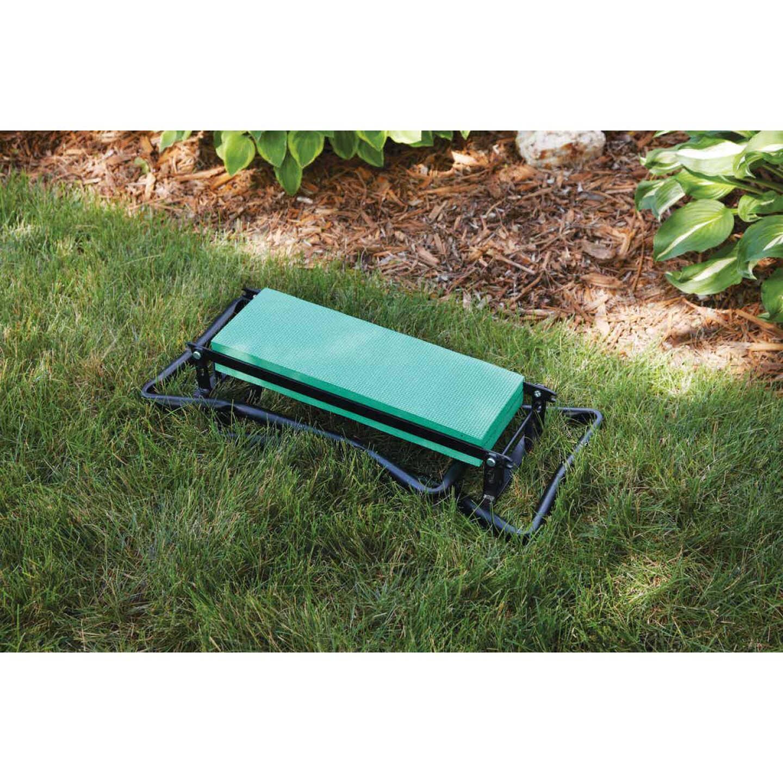 Best Garden Green Foam Pad w/Black Steel Frame Garden Kneeler Bench Image 8