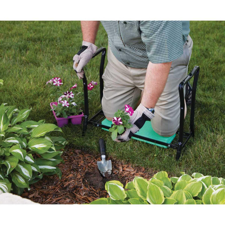 Best Garden Green Foam Pad w/Black Steel Frame Garden Kneeler Bench Image 9