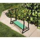 Best Garden Green Foam Pad w/Black Steel Frame Garden Kneeler Bench Image 12