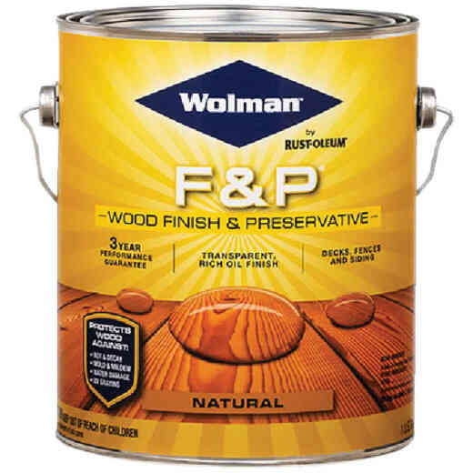 Wolman F&P Transparent Wood Finish And Preservative, Natural, 1 Gal.